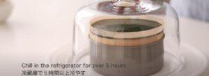 ชีสเค้กชาเขียว แช่ในตู้เย็น 5 ชั่วโมง